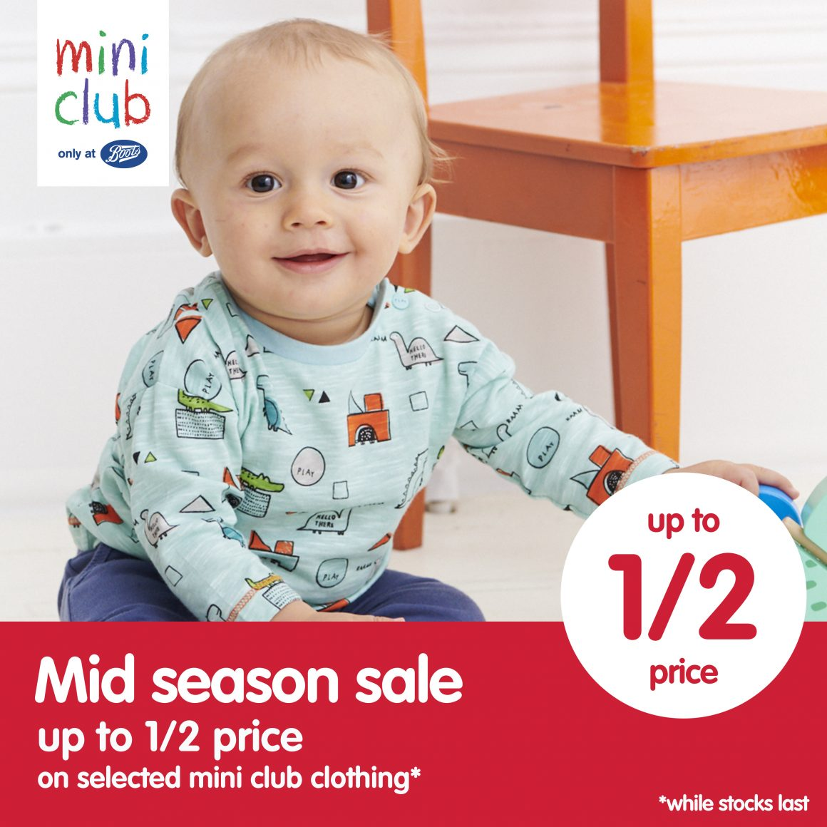 BOOTS MINI CLUB NOW ON SALE