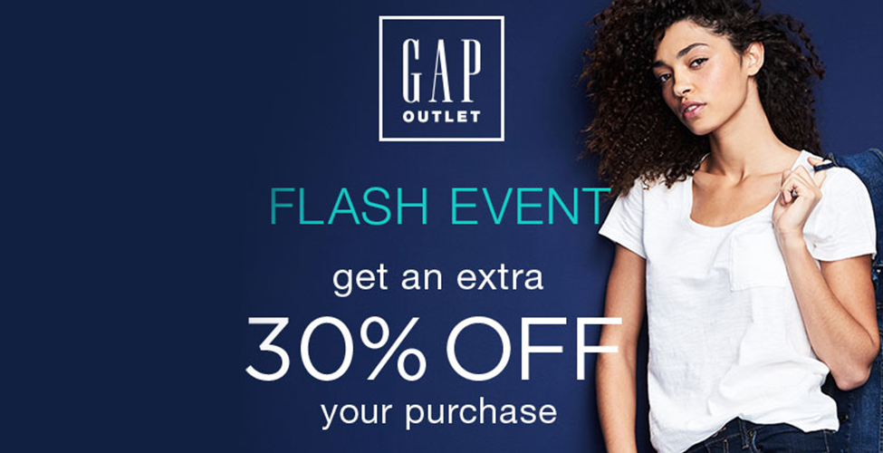 GAP OUTLET FLASH EVENT