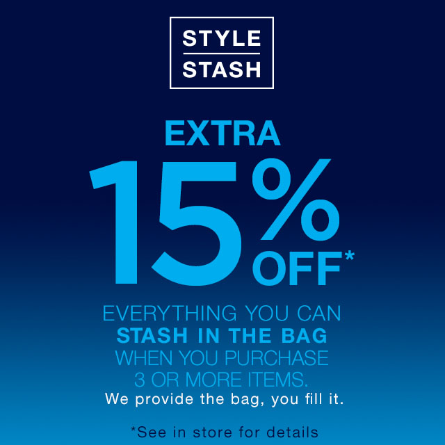 GAP STYLE STASH EVENT – 16/17 SEPTEMBER