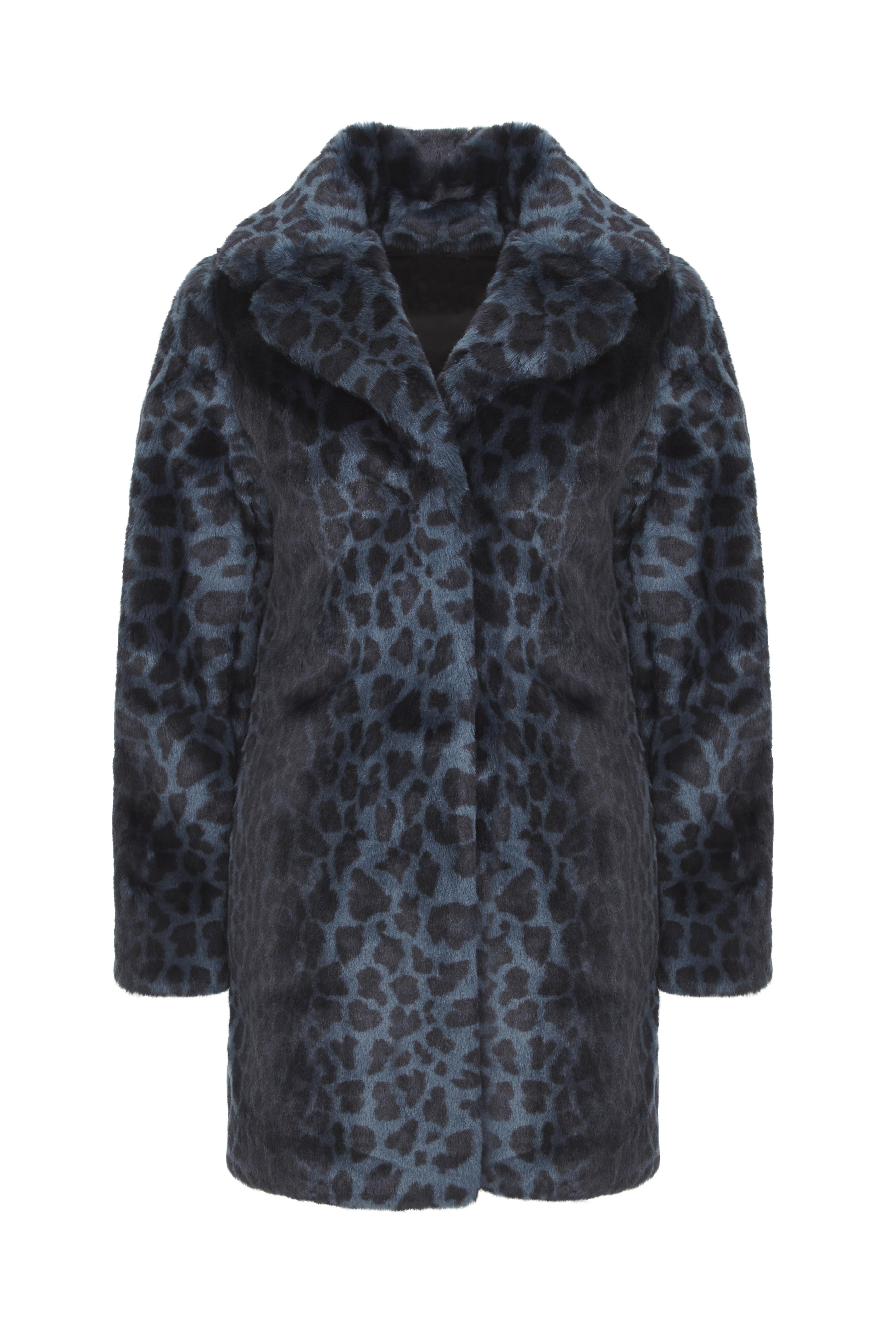 Blue Leopard Coat -ú99.99