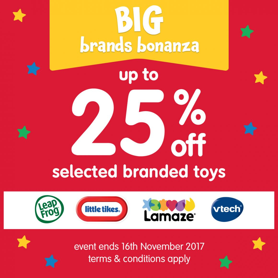 BIG BRANDS BONANZA AT MOTHERCARE