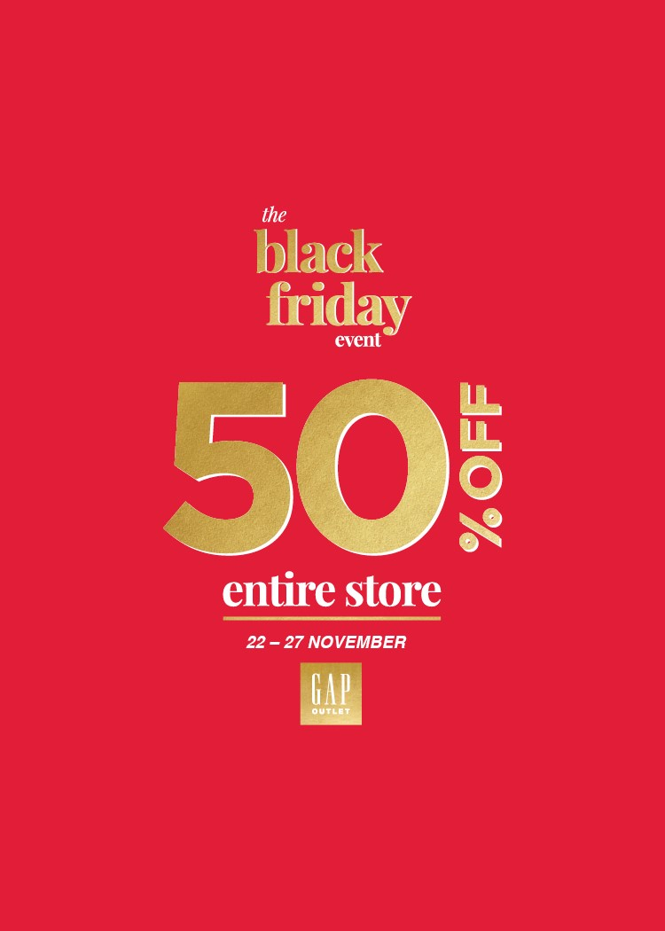 ENTIRE STORE 50% OFF AT GAP