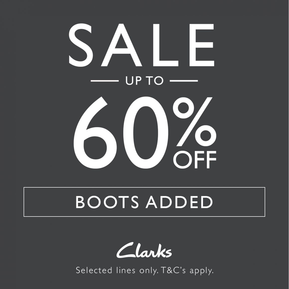 UP TO 60% OFF IN CLARKS SALE