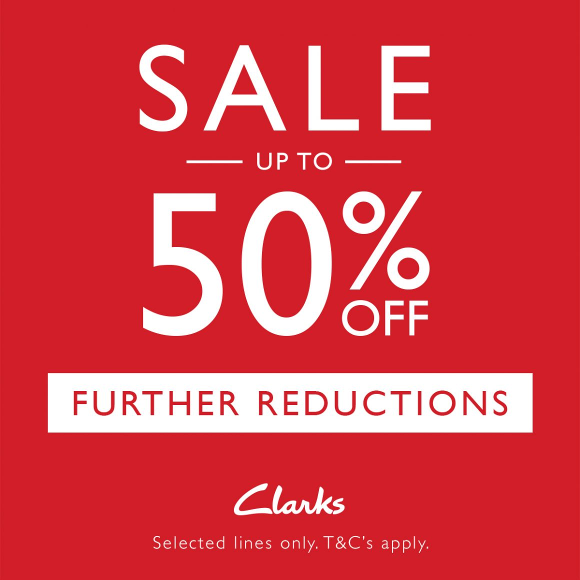 UP TO 50% OFF SALE ITEMS AT CLARKS