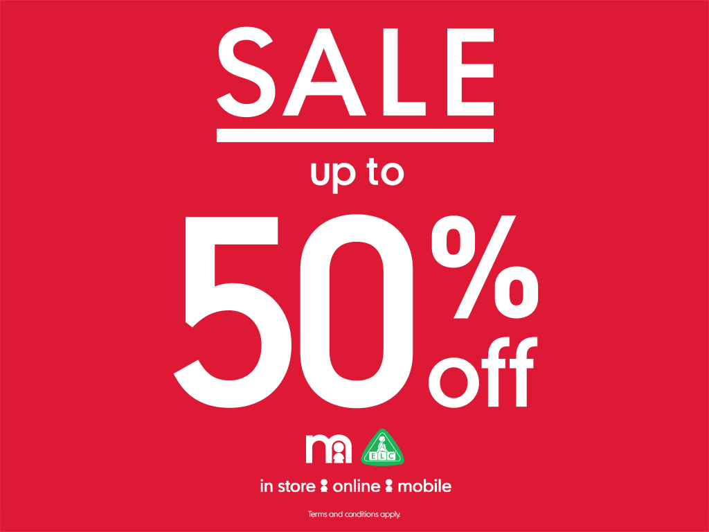 UP TO 50% OFF IN MOTHERCARE SALE