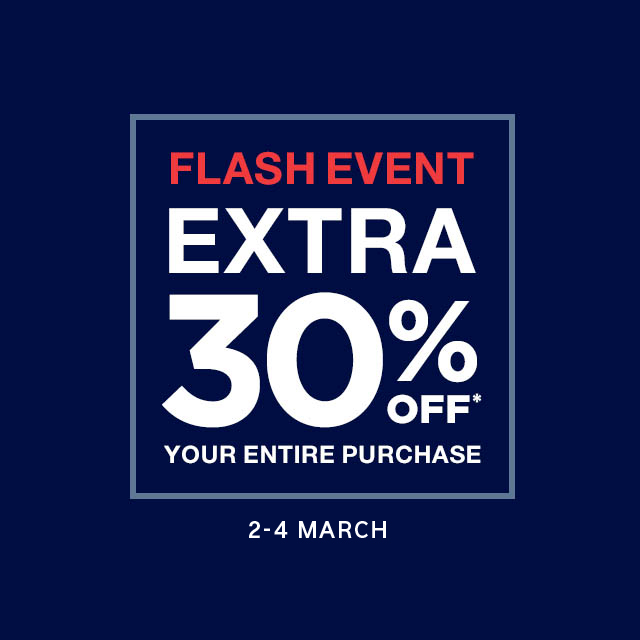 GAP FLASH EVENT – 30% OFF ENTIRE PURCHASE