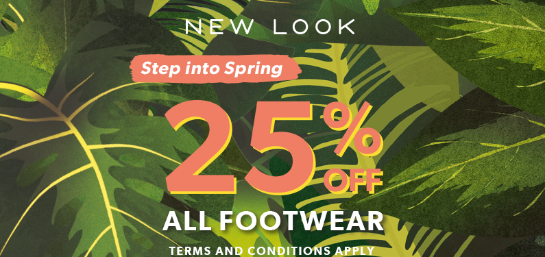 25% OFF FOOTWEAR AT NEW LOOK