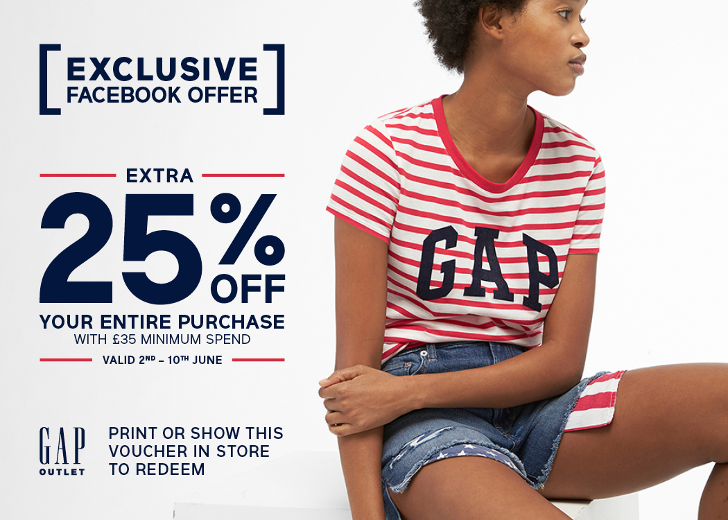 EXTRA 25% OFF ENTIRE PURCHASE AT GAP