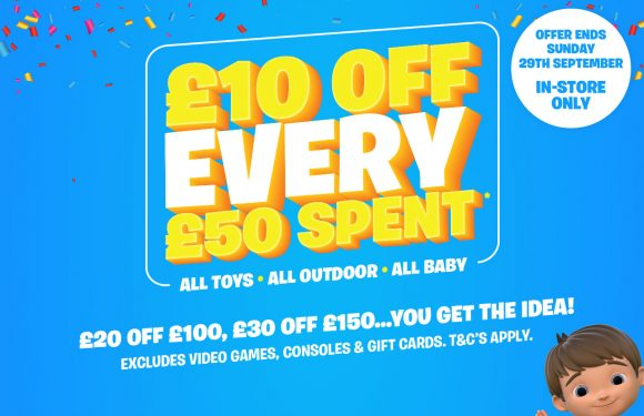 £10 Off Every £50 Spent at Smyths Toys!