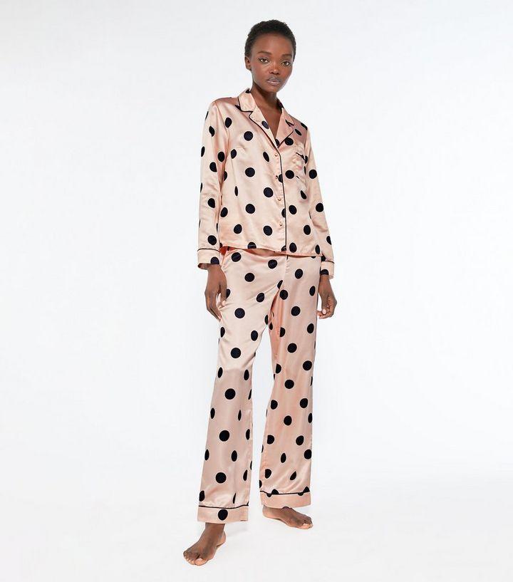 pink-spot-satin-wide-leg-trouser-pyjama-set