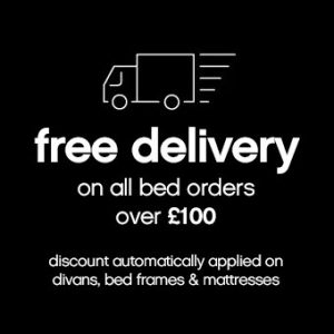 FREE DELIVERY ON ALL BED ORDERS OVER £100 AT CARPETRIGHT